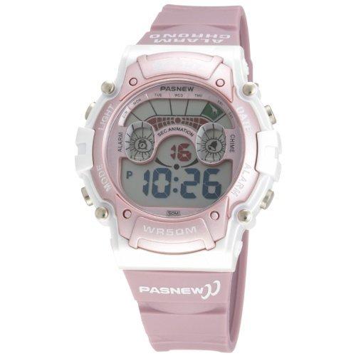 Cute LED Waterproof Sports Wrist Digital Watches for Teens Girls (Pink)