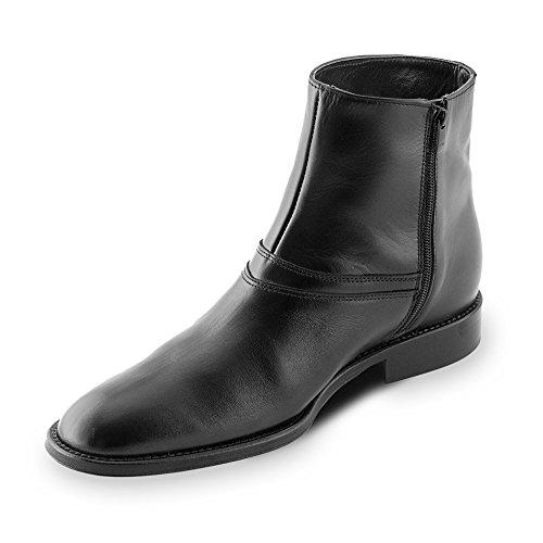 Chaussures Noir Semelle avec Fabriquées en Pour Jusqu'À Spoleto la 7cm Modèle Taille Peau Réhaussantes Homme Augmentant Masaltos dwxqXad