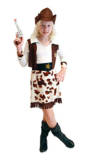stylesilove Adorable Little Girls Halloween Costume Party Cosplay Dress (L/7-9 Years, Cowgirl) ()