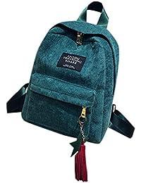 Corduroy Backpack Woman Mini Simple Corduroy Backpacks Campus Style Backpacks