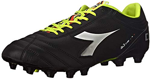 Diadora Men's Italica 3 K-Pro MG 14 Soccer Cleat,Black/White,US 12 M