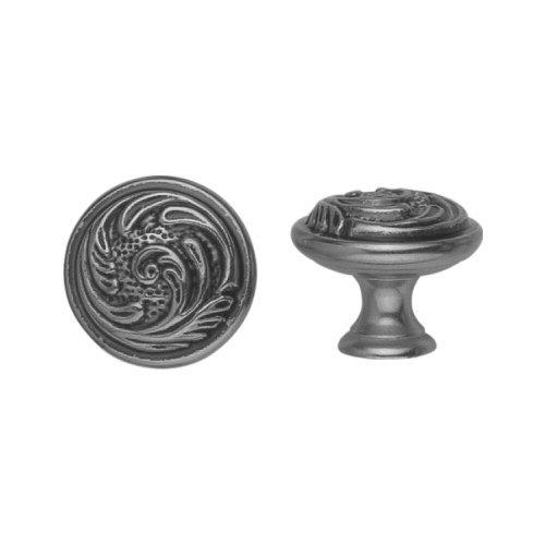 Bosetti Marella 100456 Louis XV 1 Inch Diameter Mushroom Cabinet Knob, Old Iron