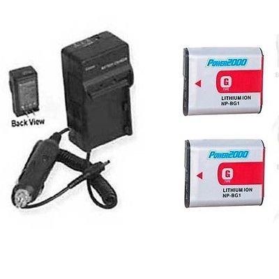 2 x Baterías + Cargador para Sony HDR-GW55, Sony HDR-GW55VE, Sony ...