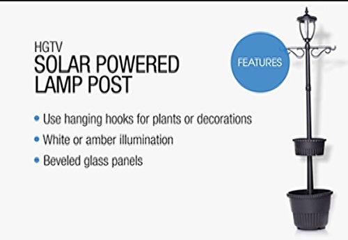 Residential Solar Light Post: HGTV HOME Solar-Powered Lamp Post Light With Built-In