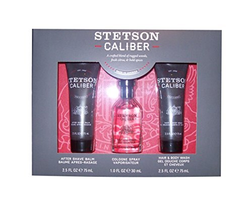 - 3 Piece Gift Pack Stetson Caliber, Cologne, Aftershave, & Body Wash