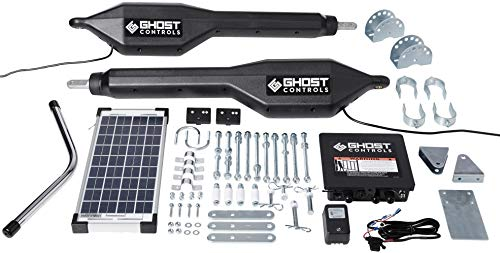 Ghost Controls TDS2XP Heavy-Duty Solar Dual Automatic Gate Opener Kit for Swing Gates Up to 20 - System Swing Arm