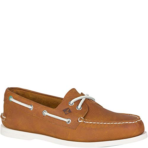 Sperry Top-Sider Authentic Original Richtown Boat Shoe Men 9 Tan (Boat Leather Shoes)