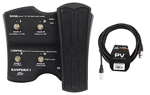 (Peavey Sanpera I 4-Button Footswitch +1 Expression Pedal Foot Controller+Cable)