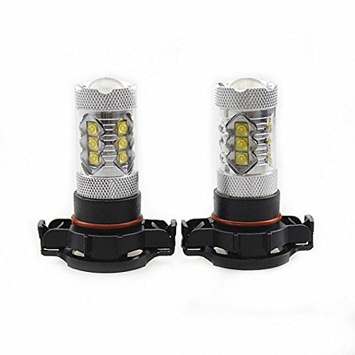 All Seasons LED 2Pcs Genuine Cree XB-D Auto LED Fog Light or Day Time Running Light 80W 1900LM, Color Cool White 6000K (5202/H16(EU))