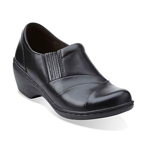 Clarks Women's Channing essa Slip-On Loafer, Black, 8.5 M US