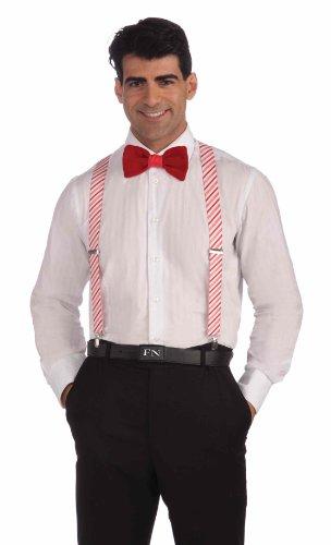 Candy Cane Costume Men (Forum Novelties Candy Cane Suspenders)