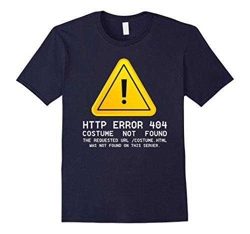 Http Error 404 Costume Not Found (Mens Costume Not Found shirt Large Navy)