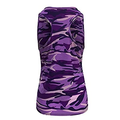 Winsummer Womens Skull Print Workout Yoga Running Tank Tops Sleeveless Casual Shirts Top Vest Shirts: Clothing