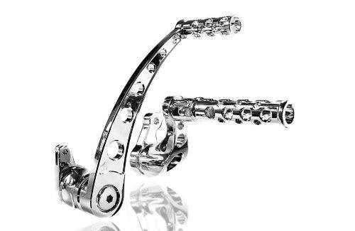 Battistinis Custom Cycles Billet Forward Control - Round - Stock Length - Chrome 07-604 -