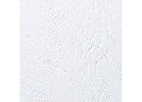 GBC Plats de couverture grain cuir LeatherGrain, format A5 (250g/m2, blanc, lot de 100) 4400015 couverture dossier accessoire relieuse