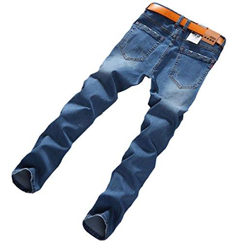 a21913d7 WEEN CHARM Men's Slim Fit Jeans Destroyed Ripped Skinny Denim Jeans Biker  Pants