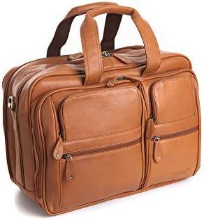 Large-Capacity Mens Travel Bag for School Travel Kindlov-BG Men Laptop Briefcase Bag Leather Business Briefcase 15.6-inch Laptop Case