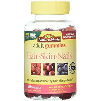 Amazon.com : Nature Made Hair Skin And Nails Gummies - 90 Count : Beauty