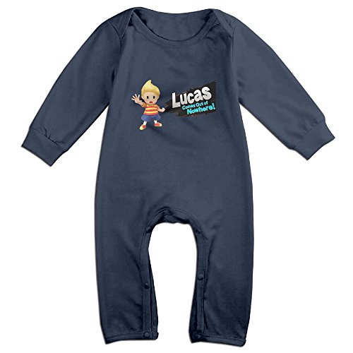 Price comparison product image PERDES Toddler / Infant Lucas Amiibo Romper Bodysuit Outfits 12 Months Navy
