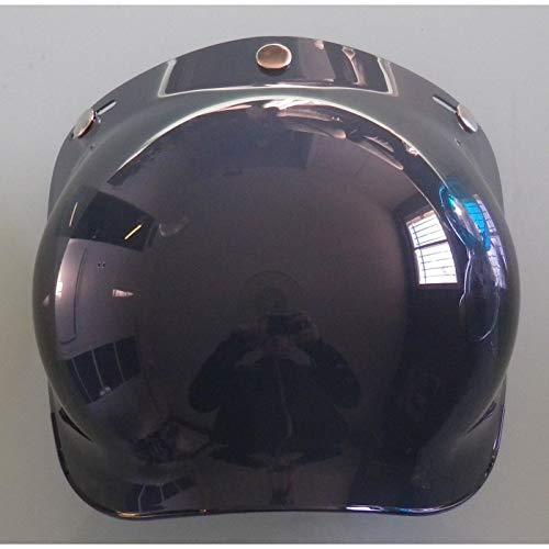 Ecran bulle 3 pressions pour casque moto jet Fum/é clair