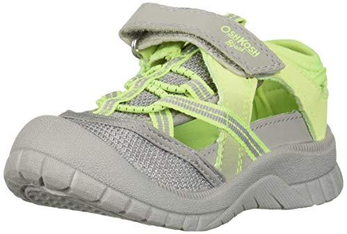 OshKosh B'Gosh Paul Boy's Athletic Bumptoe Sandal, Grey 6 M US Toddler