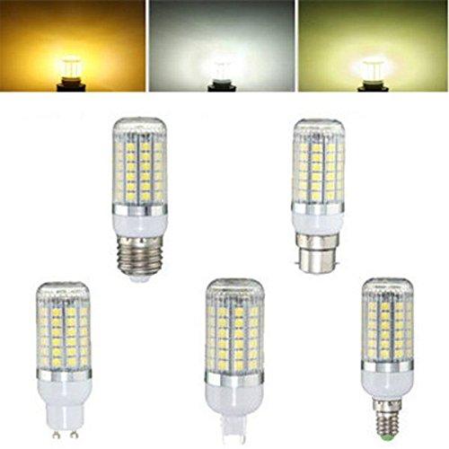 Global E27 E14 B22 G9 GU10 6W 69 SMD 5050 LED 450Lm Blanco puro blanco caliente blanco natural Bulbo de maíz AC220V: Amazon.es: Iluminación