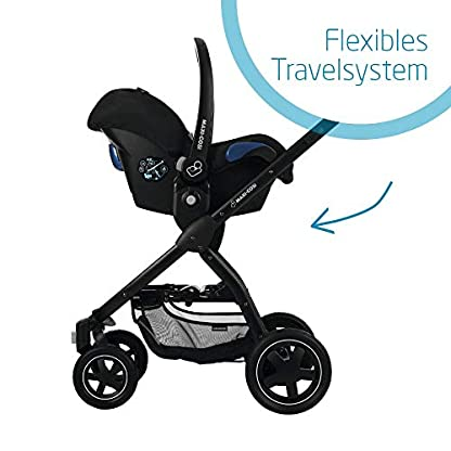 Maxi-Cosi Citi Babyschale, federleichter Baby-Autositz Gruppe 0+ (0-13 kg), nutzbar ab der Geburt bis ca. 12 Monate, Black Raven (schwarz) 5