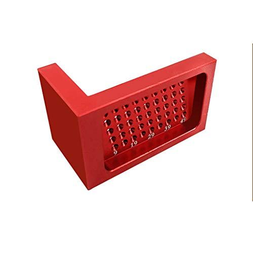 UMFun 50-Hole Woodworking Ruler Aluminum Alloy L-Shaped Woodworking Ruler Mini-Marker]()