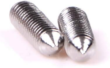Size: M4x8mm Screws Wholesale 50Pcs//lot DIN914 M3 M4 M5 304 Stainless Steel Grub Screws Cone Point Hexagon Hex Socket Set Screws