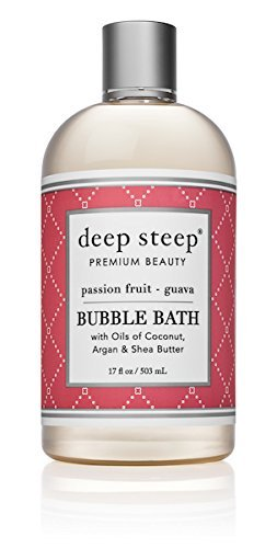 Deep Steep Bubble Bath, Passion Fruit Guava, 17.5 Ounce