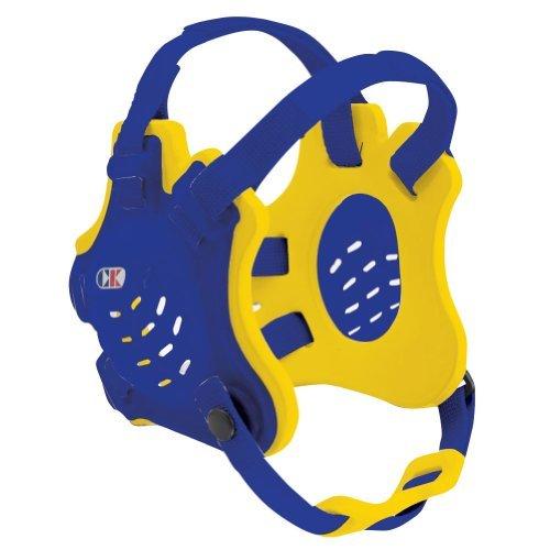 Cliff Keen F5 Tornado 4 Strap Stock Wrestling Head Gear   Royal Blue Light Gold Royal Blue