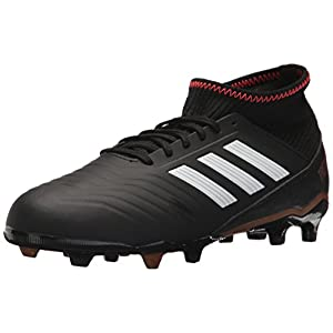 adidas Performance Unisex-Kids Ace 18.3 FG J Soccer-Shoes, Core Black/White/Solar Red, 4 M US Big Kid