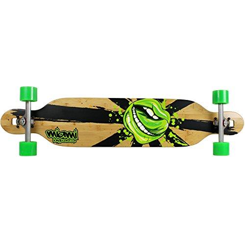 Miami Longboard Bamboo/Fiberglass Mouth Caliber/Method Complete Skateboard, 8.5