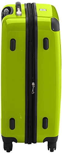HAUPTSTADTKOFFER - Alex - 2er Koffer-Set Hartschale glänzend, TSA, 65 cm + 55 cm, 74 Liter + 42 Liter, Graphit-Gelb Cyanblau-apfelgrün