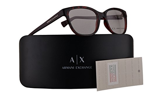 Armani Exchange AX3037 Eyeglasses 53-17-140 Havana Red w/Clear Demo Lens 8205 AX - Lens Clear Armani Glasses
