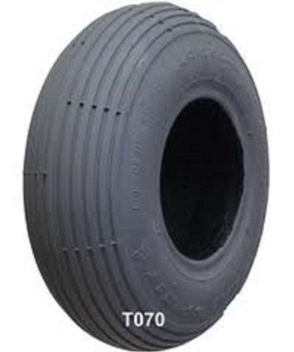 Ribbed Tires Wheelchair (1- Scooter Tire; Foam Filled, 10x3