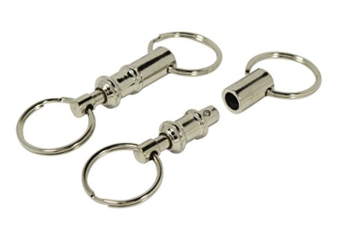 SE 121SKP Premium Quality Pull Apart Key Rings with Nickel Plated Brass Body (Pack of 12)