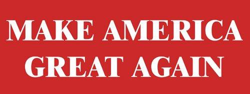 Trump us Patriot Simple RED Make America Great Again Bumper Sticker American Vinyl