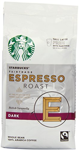 Starbucks Espresso Blend Whole Coffee Beans 200 g (Pack of 6)