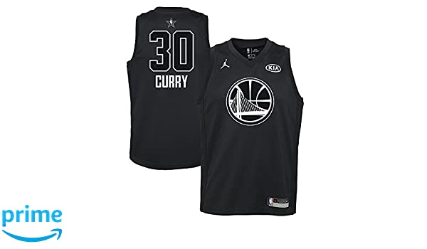 8227776258fa Amazon.com  Nike Jordan Youth 2018 NBA All-Star Game Curry Black Dri-FIT  Swingman Jersey (Black