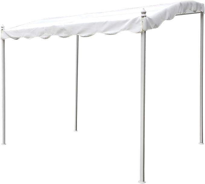 Pérgola blanca con estructura de hierro de 2 x 3 metros: Amazon.es: Bricolaje y herramientas