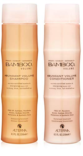 Bamboo Shampoo Hair - Bamboo Volume Abundant Volume Shampoo and Conditioner Set, 8.5-Ounce
