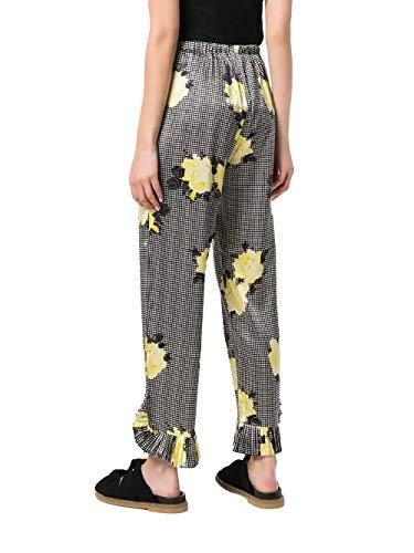 F2487099 Ganni Pantalon Noir Soie Femme qZaa5nFwXx