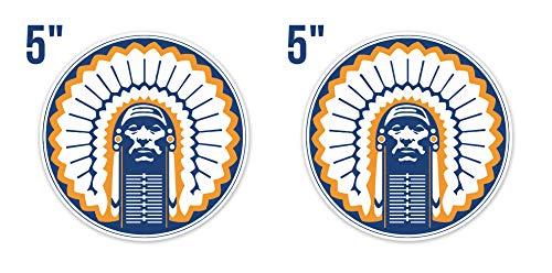 Illinois Fighting Illini Window - Illinois Fighting Illini NCAA Vinyl Sticker Decal 5 Sizes Wall CornholeTruck Car №2 (5