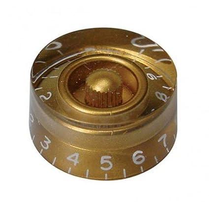 Amazon.com: BOTON GUITARRA ELECTRICA - Goth (KG110) (Plastico Dorado) (Cilindrico) Les Paul: Musical Instruments