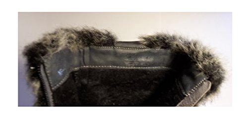 3-W-Hohenlimburg Elegante Topmodische Stiletto High Heels Stiefel/Stiefeletten Gefüttert in Schwarz, Damenschuhe, STI017, Schuh für Damen, mit Fell Innen und Außen, Hier: Schwarz. Schwarz