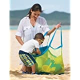 Sell4Style Beach Mesh Bag Sand Away Tote Bag for the Beach Family Children Play (Large)
