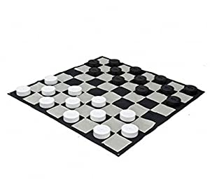 MegaChess Giant Checkers Game Mat - Nylon - Giant Size