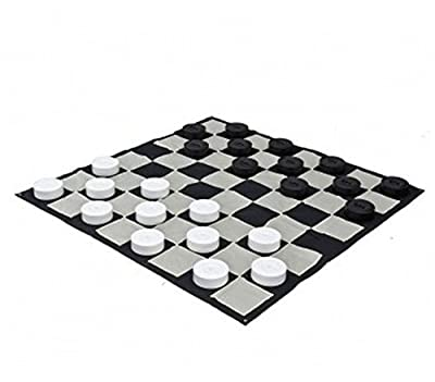 MegaChess Giant Checkers Game Mat - Nylon - Giant Size - Checkerboard Only