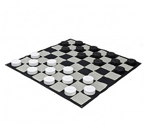 MegaChess Giant Checkers Set and Giant Checkers Mat - 10 inch by MegaChess